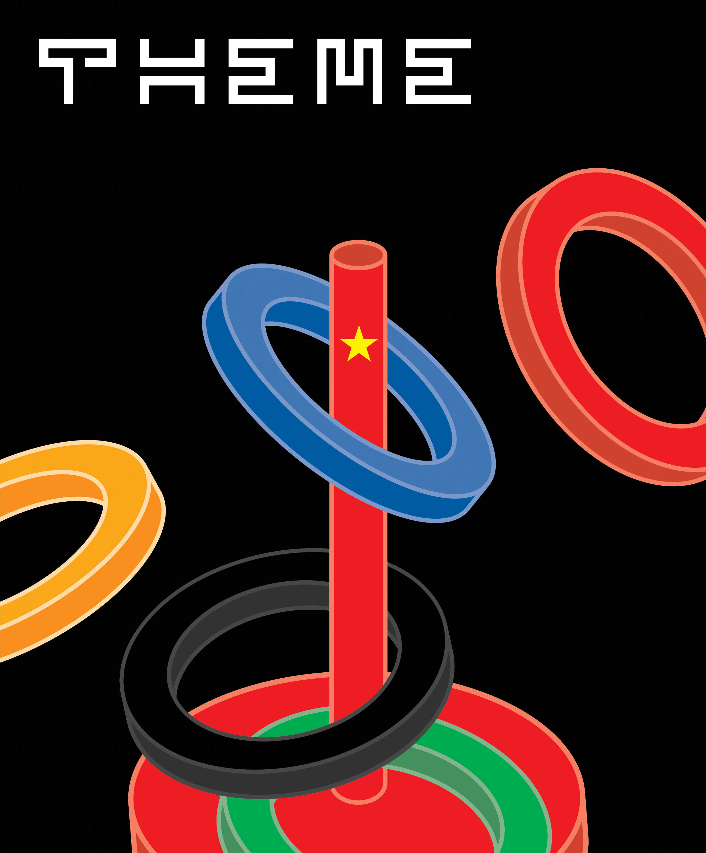 Theme mag beijing olympics cover archival jelsen cover design for theme magazine for the beijing olympics issue biocorpaavc Choice Image